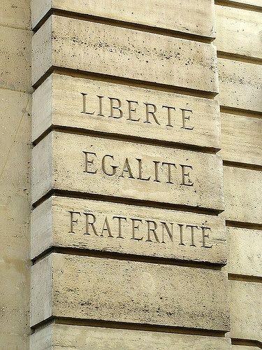 """Le Marais Quarter, """"Liberty, Equality, Fraternity"""" Rue des Blancs-Manteaux, Paris IV"""