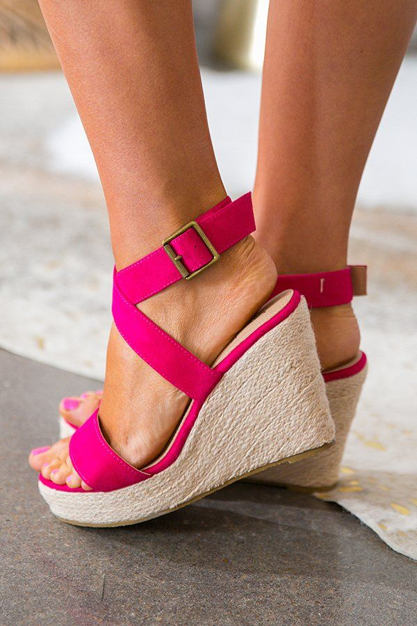 adc075d7f78 The Malibu Wedge In Fuchsia-$39 | Palm Springs: The Collection 2018 ...