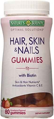 Natures Brand Bounty Optimal Solutions Hair Skin Nails Gummies 80 ct * See this great product.