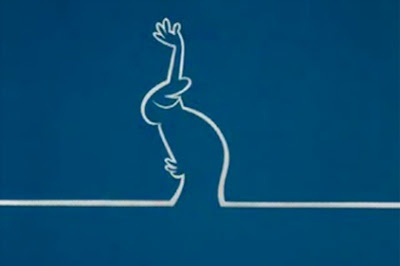 There is the unique and unbeatable La Linea: animated shorts made in Italy, consisting of just a contour. The main character is a walking man, whom the drawer always gets into trouble, with some misfortune befalling him at the end. (Thinking about it, its popularity around here comes from fitting with that Central European loser mentality perfectly.)