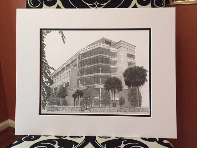james edwards dental school medical university of sc 11x14 black and white signed numbered and matted print ready for your 16x20 frame