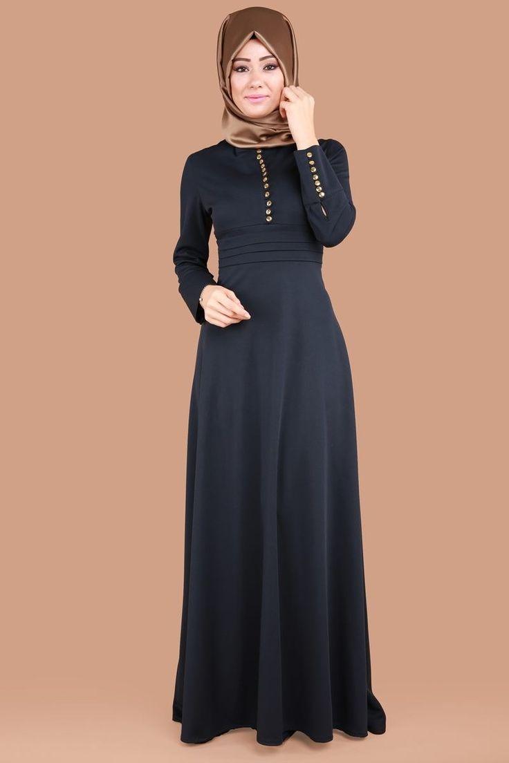 Düğmeli Tesettür Elbise Laci Ürün Kodu: ELF3487 --> 69.90 TL