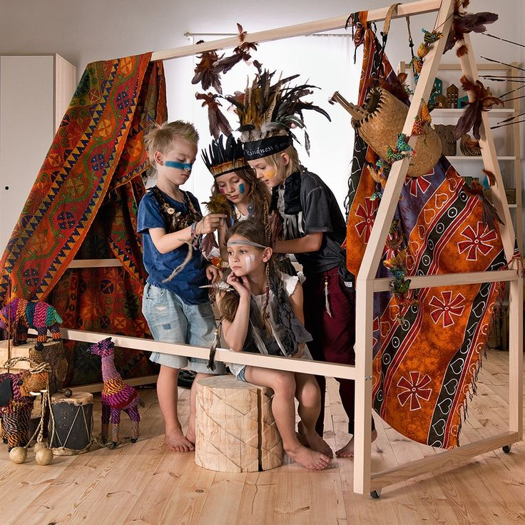 Spot Tipi Bed Frame in Acacia | The perfect play area for mini cowboys, cowgirls and Indians | Also available as a bed option with the Spot Tipi Bed