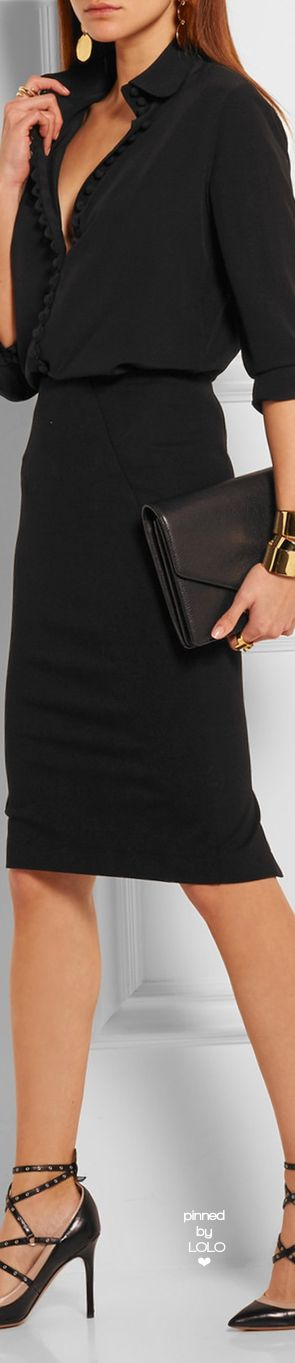 DONNA KARAN NEW YORK Stretch-Jersey Pencil Skirt | LOLO❤︎