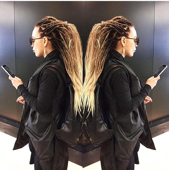 x10 or FULL SET synthetic double ended dreadlocks by BasiliskHairs