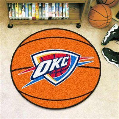 Oklahoma City Thunder Orange Round Basketball Mat