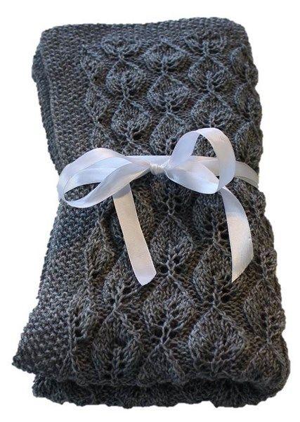 Strikket babytæppe i uld Tankesus