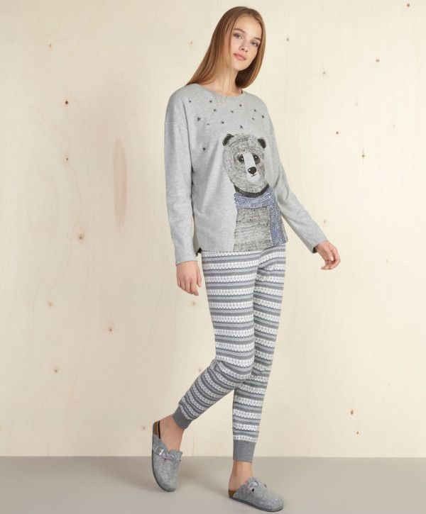 catalogo-oysho-2016-pijama-oso-azul