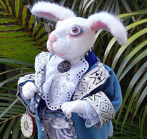 White Rabbit Fairy-tale character from Alice in by irinaalek