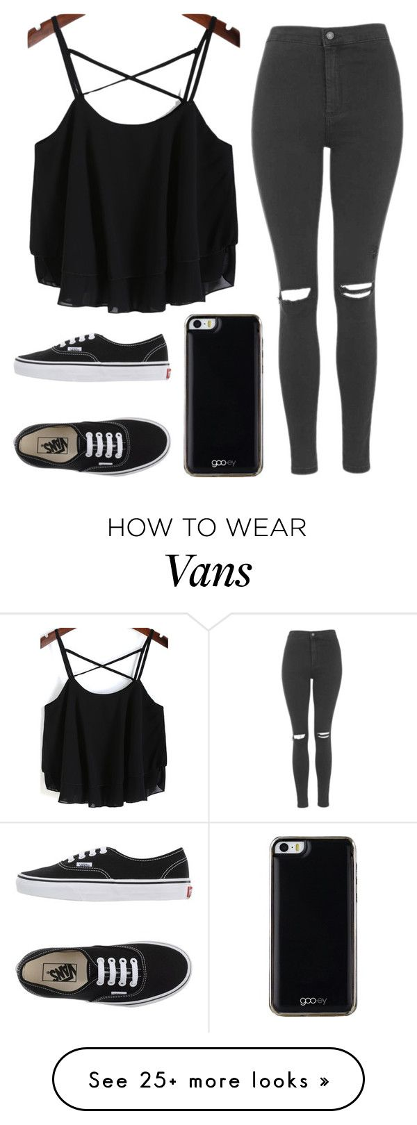 """""""Untitled #540"""" by tokyoghoul1 on Polyvore featuring мода, Topshop, Vans, Gooey, women's clothing, women's fashion, women, female, woman и misses"""