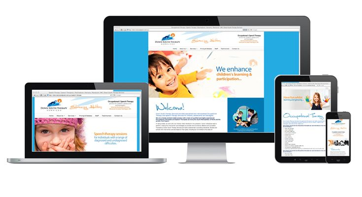 Down South Therapy Services Website Design by V&P