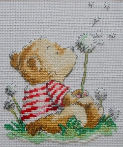 Cross stitching is a delightful craft which has been practised for many centuries. The intnote that the pictures I have shown on this page are not free cross stitch patterns. They have all been made available under creative commons licenses from Flickr. Dream time bear cross stitch picture credit