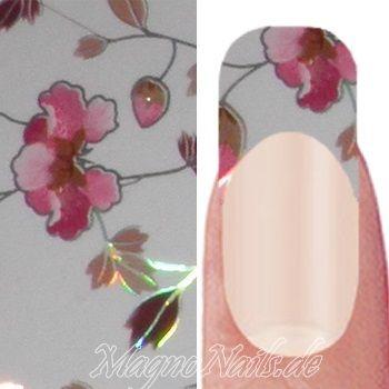 Nail Art Transfer Folie 1,5m - Nail Foil -  Japan Flower