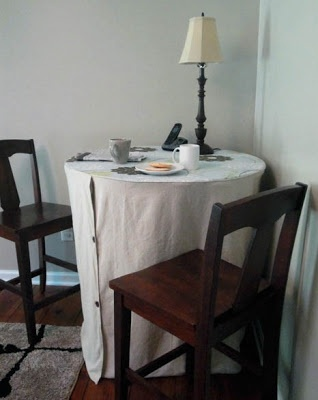 Slipcover for Bistro Table – Going Undercover