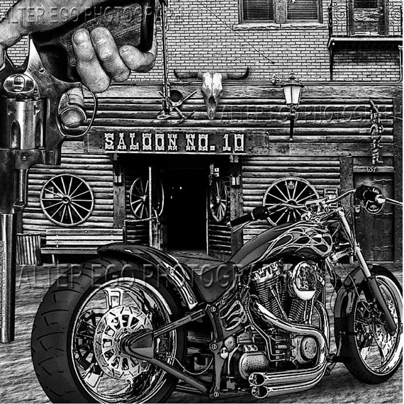 Deadwood 12x12 print harley number 10 saloon south by - Dessin saloon ...