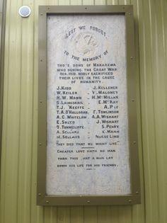 Makarewa School Memorial Tablet - Historypin | Walking with an Anzac