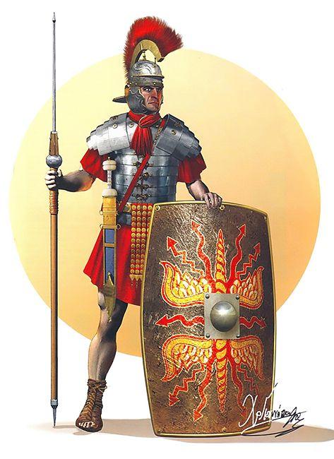 Roman legionary, 60-70 AD