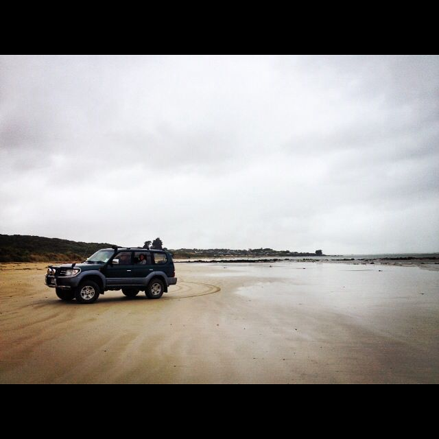 4wheel driving, Kaka Point, New Zealand