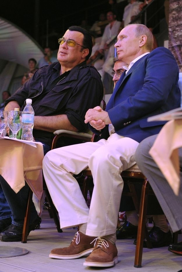 """""""I don't know him all that well,"""" Seagal said in an interview with state newspaper Rossiiskaya Gazeta, published Wednesday. """"But I'd like to think I know him well."""" 