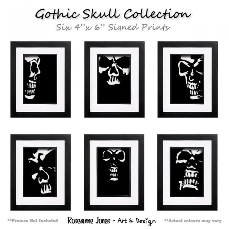 Gothic Skull Collection - Signed Prints for sale by Roseanne Jones at MoreThanHorror.com