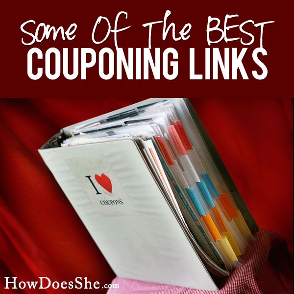 Some of the BEST Couponing Links! Pin now...read later!! List at HowDoesShe.com