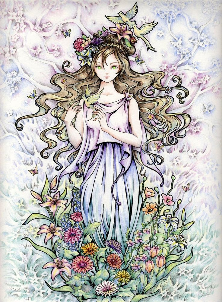 Persephone Rising by *ShannonValentine on deviantART ~ floral beauty