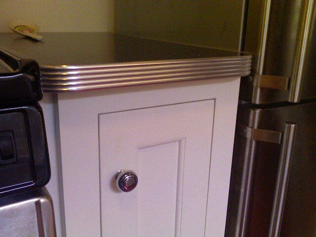 Metal Edged Countertops Kitchen Restoration Pinterest