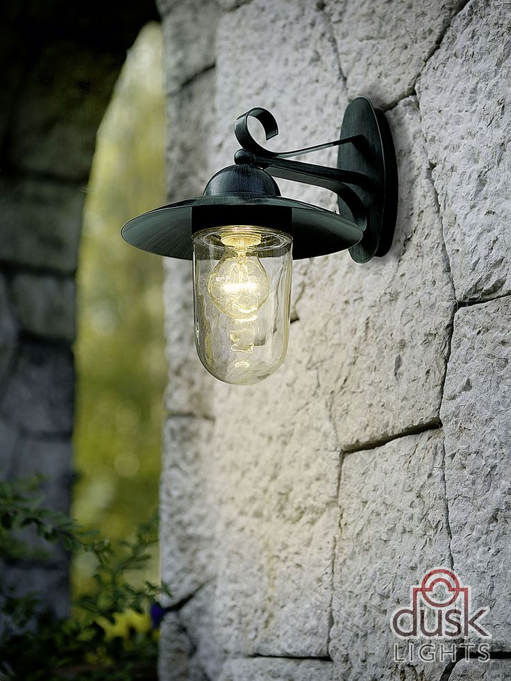 Eglo Milton Outdoor Ip44 Antique Green Galvanised Steel Wall Light