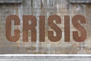 Street-art. 50 000 pièces de 2 centimes pour dénoncer la crise | Courrier international