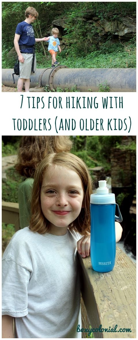 tips for hiking with toddlers (and older kids), plus our favorite Brita water bottles #ad #britaonthego #pmedia @britausa @walmart