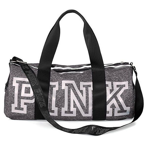 Victoria's Secret PINK Gym Duffle Tote Bag ($69) ❤ liked on Polyvore featuring bags, handbags, tote bags, tote hand bags, duffle handbag, duffle purse, tote handbags and victoria secret purse