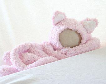 DIGITAL PATTERN:Kitty Costume Pattern,Baby Cat Costume,Newborn Costume Photography Prop,Kitty Cat Costume,Knit Baby Costume,Cat Hat Pattern
