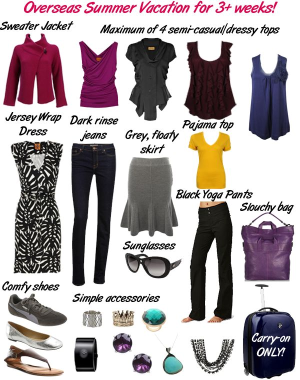 Travel light clothes