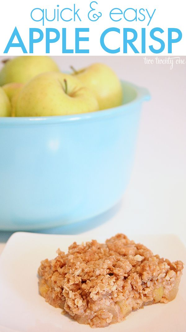 The BEST apple crisp recipe! | Food | Pinterest