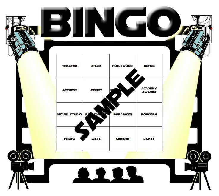 Hollywood Theme Classroom | Hollywood Themed Bingo Set