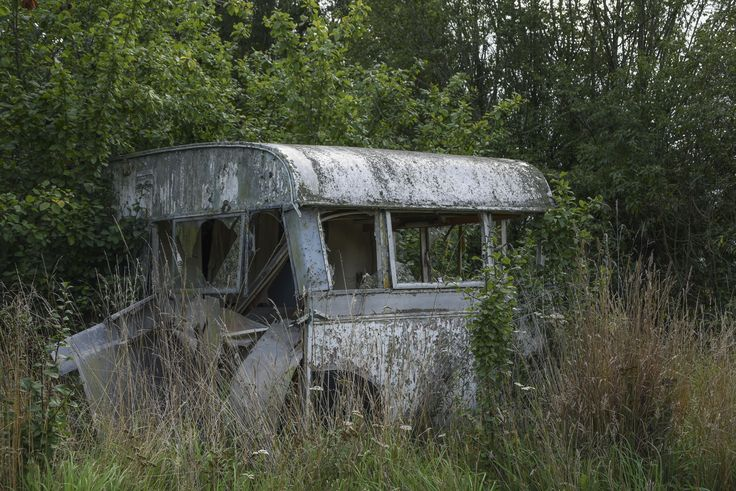 Derelict, abandoned caravan. Temuka, South Canterbury NZ.