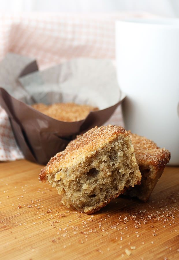 If you're craving sweet in the morning, give these delicious and moist donut muffins a try! Shared via www.ruled.me/
