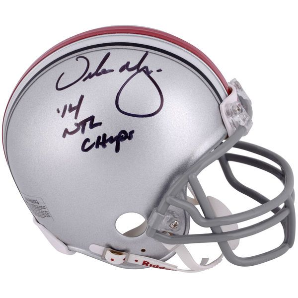 Urban Meyer Ohio State Buckeyes Autographed Riddell 2014 College Football Playoff National Champions Mini Helmet with Inscription - $189.99
