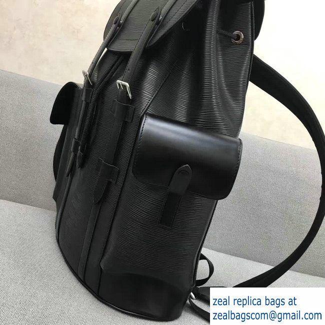 0363ebe8e341 Louis Vuitton Epi Leather Supreme Christopher PM Backpack M50159 Black    Сумки   Backpacks, Louis vuitton и Leather