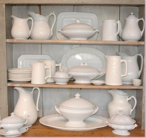 white ironstone & 414 best Antique Ironstone images on Pinterest | White dishes White ...