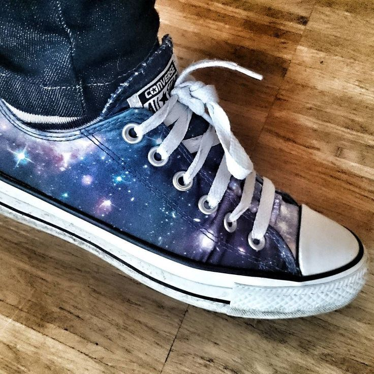 """Awesome space shoes by """"La Chilena"""" Amy Tyndall at #spaceEDU16"""