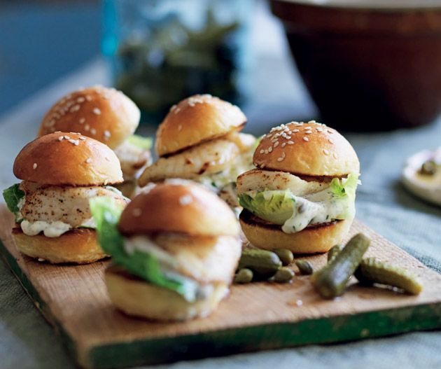 Silver dory brioche sliders from Manu Feildel's French for Everyone.
