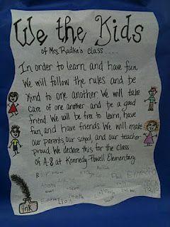 Constitution Week - Classroom Ideas from http://kreativeinkinder.blogspot.com/2011/10/we-kids.html #ConstitutionWeek #socialstudies