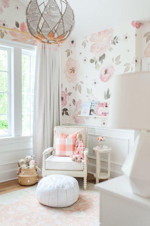 Monica Hibbs Blush Nursery White Capri Babies Design