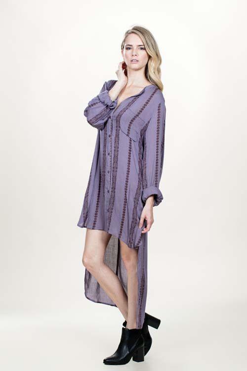 Shirt Dress | lavendar