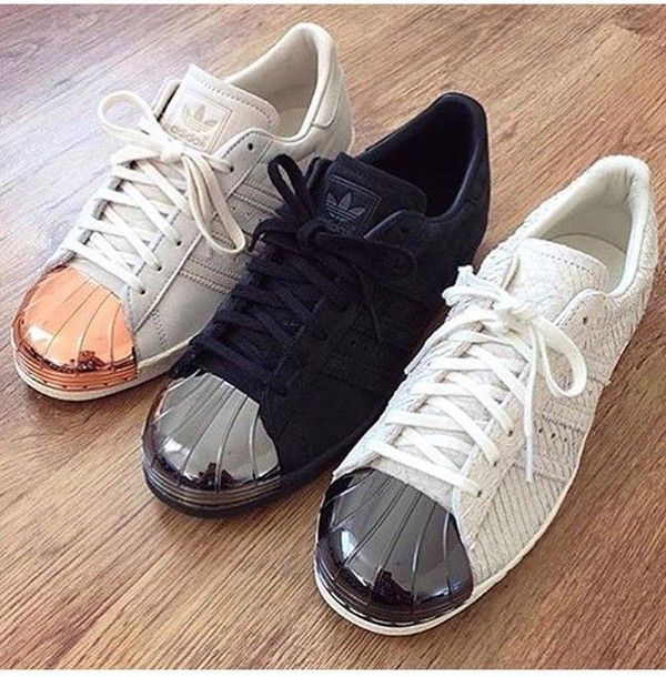 shoes adids superstar adidas gold rose gold black silver white black  rosegold