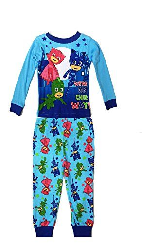 PJ Mask Boy's Were On Our Way! Long Sleeve Cotton Pajamas Tight Fit - PJ Mask Boy's Were On Our Way! Long Sleeve Cotton Pajamas Tight Fit
