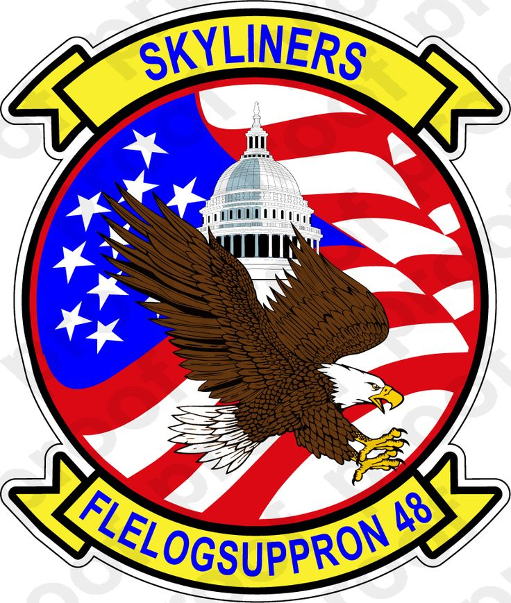 Sticker usn vr 48 skyliners Stickers, Military insignia