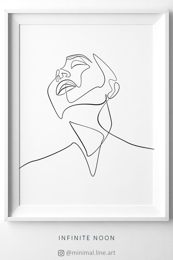 Fine Line Abstract Print Minimalist One Line Face Drawing Female Sketch Wall Art Simplistic Downl Line Art Drawings Illustration Artwork Outline Art