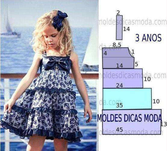 ARTE COM QUIANE - Paps,Moldes,E.V.A,Feltro,Costuras,Fofuchas 3D: 5 moldes de vestidos de criança que você precisa ter